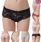 Womens NEW Lace French Knickers Pack 8 10 12 14 16 18  Ladies Briefs Boy Shorts