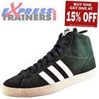 Adidas Originals Mens Basket Profi Hi Top Leather Trainers Green *AUTHENTIC*