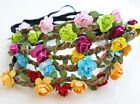 Boho FLOWER GARLAND HEADBAND Garland Party Beach Festival Wedding Hairband Hair