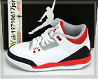 2013 Nike Air Jordan 3 III GS White Fire Red Black Grey 398614-120 US 4~7Y AJ3 1