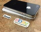 Apple iPhone 4S - Black White (Factory Unlocked) AT&T T-Mobile 8/16GB/32GB/64GB