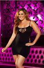 Black Cash Cage Mini Dress LC-18 Women Sexy Lapdance Lingerie OSQ Bedroom Plus
