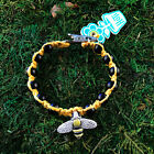 HOTI Hemp Handmade Bracelet Ladies Yellow Bee Black Wood Beads Roach Clip It NWT