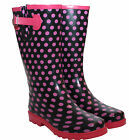 WOMENS LADIES EXTRA WIDE CALF SNOW RAIN FESTIVAL WELLIES WELLINGTON BOOTS UK3-8