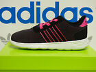 NEW ADIDAS Neo Lite Racer Toddler Shoes - Black/Pink;  AW4413