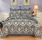 Moscow Gray 8 Piece Soft Egyptian Coton Touch Reversible Comforter Set & Sheet image
