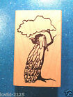 Peacock In  a Tree By Handstamped From The Heart 1996 Wood Rubber Stamp EUC