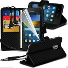 Leather Book Wallet Phone Case Cover+Stereo Headphones for Huawei