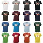 STUFF4 Men's Round Neck T-Shirt/Northern Ireland/Irish Flag Splat/CS
