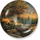 Terry Redlin EVENING SOLITUDE Collector Plate - Canoe Camping Fishing Sunset