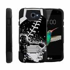 For LG Zone 3 | K4 | Spree Dual Bumper Case Kickstand Catcher in Action