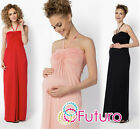 Ladies Maternity Summer Maxi Dress Halter Neck Long Tunic Plus Sizes 8-18 FM24