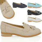 NEW WOMENS FLAT SLIP ON FRINGE PUMPS LADIES GILLIAN SMART OFFICE LOAFERS SHOES