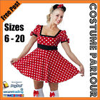 Womens Minnie Mouse Disney Ladies Fancy Dress Costume Sizes 6 - 20