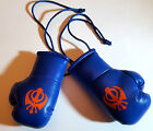 #02 BLUE & Navy Blue Sikh Symbol Punjabi Indian Car Gift Mini Boxing Gloves