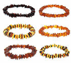 Genuine baltic amber stretch bracelet.