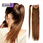 100g wrap draw string Top Quality Long Straight Ponytail Human Hair Extensions