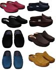 WOMENS LADIES SUMMER LOAFERS REAL LEATHER SLIP ON MULES CASUAL SANDALS SHOES 4-8