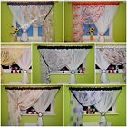 Ready Made Voile Net Curtain Stunning Design White Black Red Purple Brown Floral