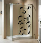 DELPHIN STICKERS / Shower Screen Sticker / Waterproof Wall Sticker / N135