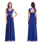 Women's Long Bridesmaid Dresses Cap Sleeve Homecoming Prom Party Dresses 08697
