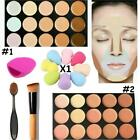 3 in 1 Concealer Palette Kit With Brush Sponge Face Makeup Contour Cream New