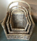 GLENWEAVE OPEN ENDED HEAVY DUTY LOG BASKET  WOVEN, WILLOW. WICKER, VARIOUS SIZES