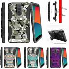 For LG Stylo 2 | Stylus 2| Shockproof Protection Holster Case Swamp Camouflage
