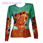 VINCENT VAN GOGH Sunflower Flower BOHO LS T SHIRT PAINTING FINE ART PRINT NEW *