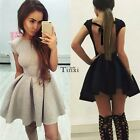 Sexy Women Backless Evening Party Cocktail Swing Flared Skater Short Mini Dress
