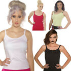 PLAIN HIGH QUALITY CAMISOLE STRAPPY VEST TOP 100% COTTON