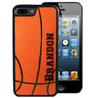 PERSONALIZED BASKETBALL RUBBER CASE FOR iPHONE 5 5S 5C SE 6 6S 7 PLUS SPORTS