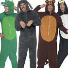 Animal Onesies Jumpsuit Fancy Dress Mens Ladies Jungle Book Zoo Pyjamas Costume