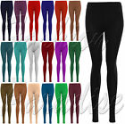 WOMENS LADIES PLAIN STRETCHY VISCOSE FULL LENGTH LEGGING PLUS BIG SIZE 8 TO 24