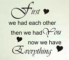 "Wall art quote stickers decal ""now we have everything"""