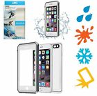 For APPLE iPhone 6 / 6S Clear Back [WATERPROOF] Case Cover Dirt Proof BLACK Dive