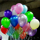 "Lots 100pcs 10"" Colorful Pearl Latex Balloon Celebration Party Wedding Birthday"