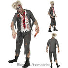 CL906 Zombie School Boy Mens Halloween Bloody Horror Costume Student Fancy Dress