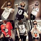 T Women Sweater Cartoon Mouse Duck loose lady T-shirts Casual fleece Top Blouse