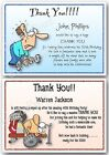 30th 40th 50th 60th Personalised Birthday Thank You Cards weights fitness