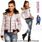 Sexy Women's Bomber Jacket Size 6 8 10 12 14 Warm Hooded Outerwear XS S M L XL