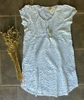 New Odd Molly All In White Summer Dress Cover-Up 1 (small) and 2 (medium)