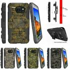 For Samsung Galaxy S7 Active G891A Holster Clip Stand Case Abstract Camouflage
