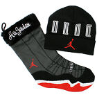 Jordan Retro AJXI Holiday Stocking/Beanie Gift Pack Black/Red/White 507949-010