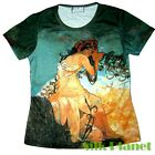 MUCHA SUMMER SEASONS T SHIRT NOUVEAU FINE ART PRINT POSTER PAINTING