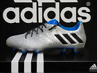 NEW ADIDAS Messi 16.3 Firm Ground Soccer Cleats - Silver/Blue; S79631