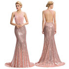 Elegant~Banquet Sequins Ball Gown Evening Prom Party Festival Dress UK Size 4-19
