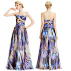 Long MAXI Chiffon Ball Gown Evening Prom Party Dress 8 Size 4 6 8 10 12 14 16 18