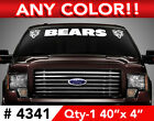 "CHICAGO BEARS ""HEAD"" WINDSHIELD DECAL STICKER 40""x4"""" ANY 1 COLOR $14.99 USD on eBay"