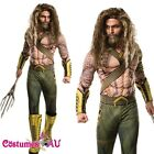 Batman vs Superman Dawn of Justice Deluxe Aquaman Muscle Hero Mens Costume